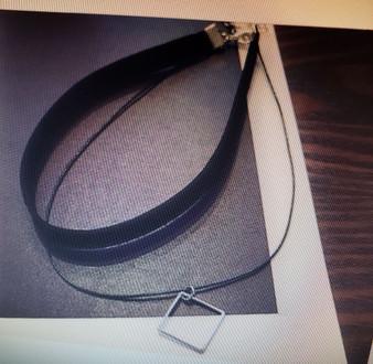 Black Velvet Triangle Pendant
