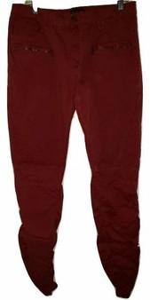 Dark Red Rib Pants