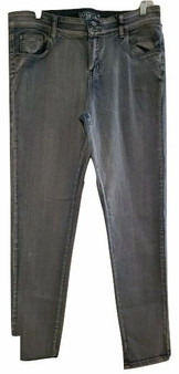Light Blue Whiskered Stylish Skinny Jeans