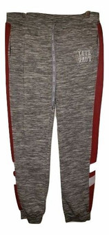 Gray Red Stripe Joggers