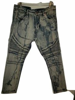 Gray Black Paint Skinny Jeans