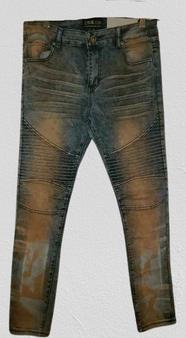 Blue Ash Washed Skinny Jeans