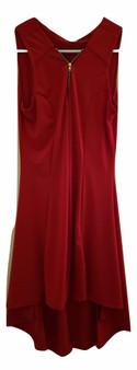 Red Hilo Zipper Dress