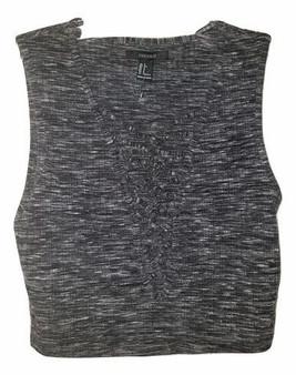 Charcoal Gray V Crop Top