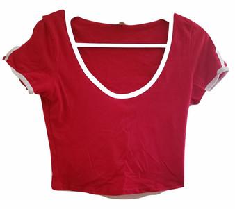 Red White Stripe Top