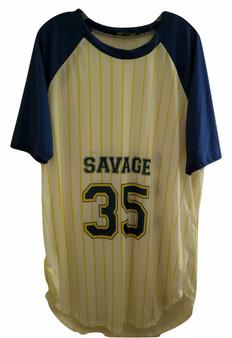 White Navy Yellow Savage 23 Jersey