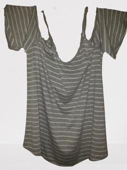 Gray White Stripe Should Out