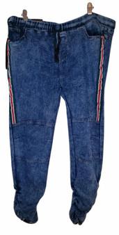 Med Blue Side Stripe Jeans