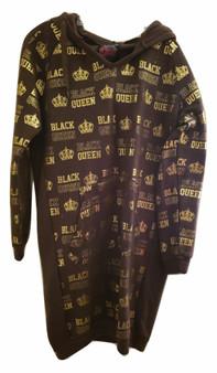 Brown & Gold Black Queen Hoodie