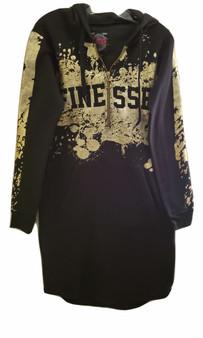 Black & Gold Finesse LS Hoodie