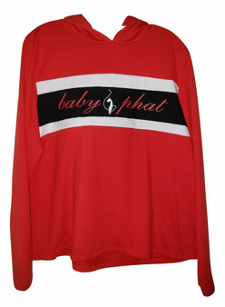 Baby Phat Red White Black Pull Over Hoodie