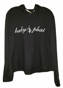 Baby Phat Black & White Pull Over Hoodie