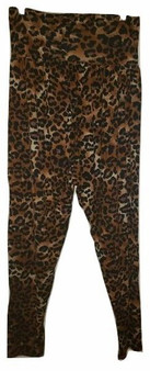 Brown Leopard Harem Pants