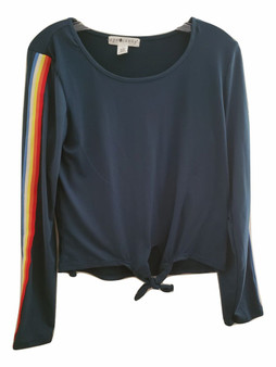 Green Rainbow Side Stripe Long Sleeve