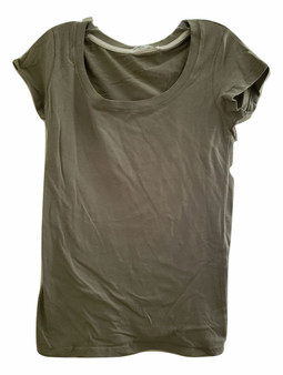 Lite Olive Scoop Top