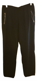 Black Zipper Pockets Jogger