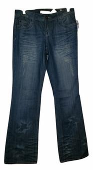 Blue Destructive Flare Jeans