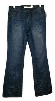Blue Destructive Flare Jeans