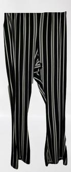 Black White Stripe Flare