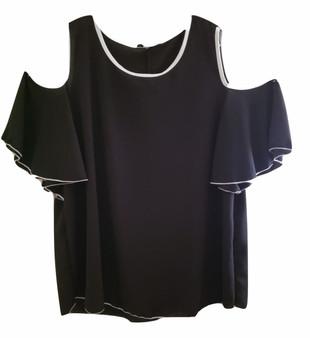 plus black white top, plus shirts