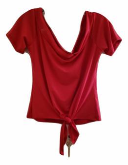 junior red top, miss tops