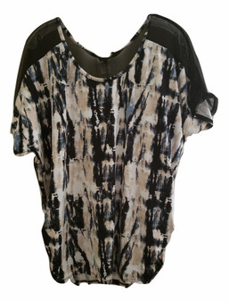 Black Dye Net Chain Top