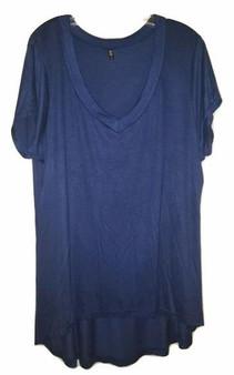 plus tops, plus shirts, blue shirt