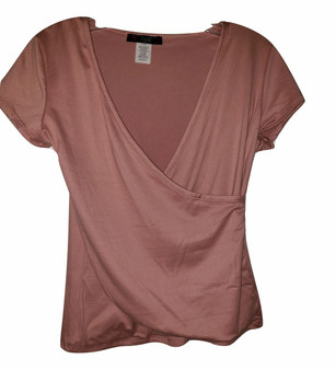 Rose Front Wrap Top