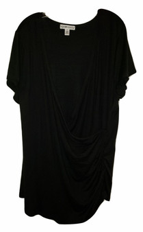 plus tops, womens tops, black blouse