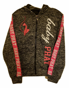 Baby Phat Gray Pink & White Zip Hoodie Jacket
