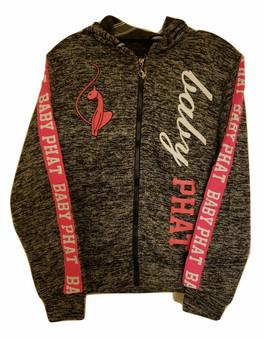 Baby Phat Gray Pink  White Zip Hoodie Jacket