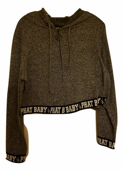 Baby Phat Charcoal Gray Zipper Hoodie Jacket