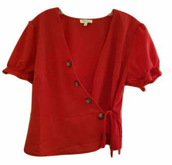 junior tops, womens tops, red blouse