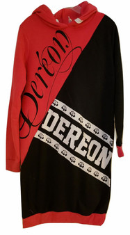 Dereon Fushia Black White Hoodie Dress