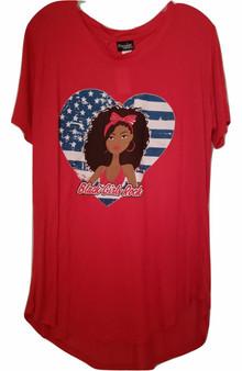 plus attitude tee, black girls rock, plus shirts