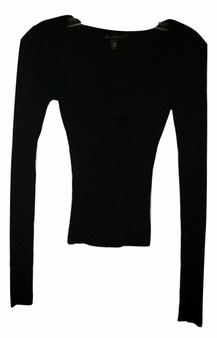 junior black sweater, long sleeve sweater