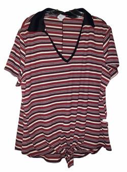 Black Wine Stripe Tie Front
