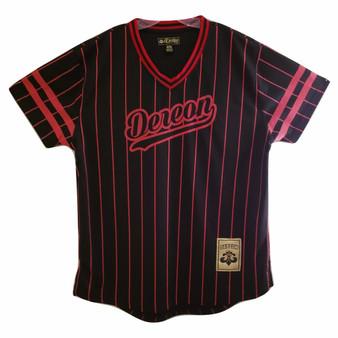 Dereon Black Red Stripe Jersey