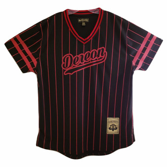 Dereon Black Red Stripe Jersey