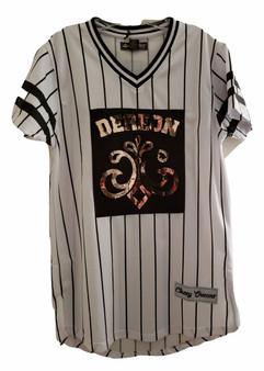 Dereon Black White Gold Jersey