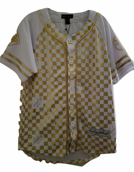 Baby Phat Gold & White Button Down