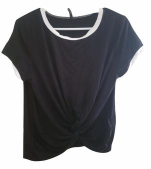 Black White Tie Front