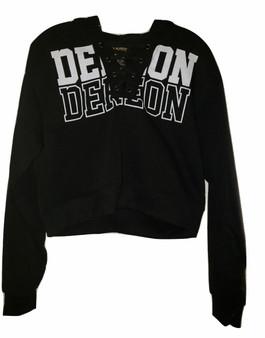 Dereon Black & White Hoodie LS