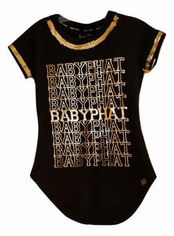 Baby Phat Gold Round Split Top