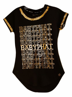 Baby Phat Gold Round Split Top