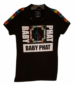 Baby Phat Black Stay Humble Polo