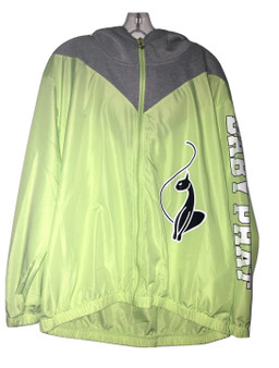 Baby Phat Lime Gray Zip Wind Breaker
