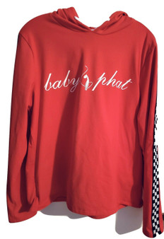 Baby Phat Red Checkered Pull Over