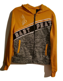 Baby Phat Yellow Gray Zip Jacket