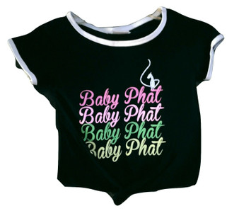 Baby Phat Black Pink Tie Front Shirt